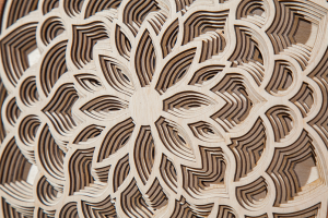 Stock image of a laser-cut mandala
